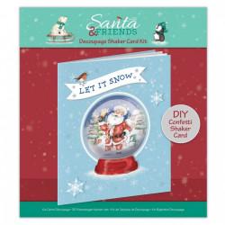 Papermania kerstmis kaartenpakket, voor 1 schudkaart, PMA169965 (Locatie: 5820)