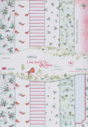 Paperpack, 24 vel 6 designs, A5 14.8 x 21 cm, Little Red Robin, 160159