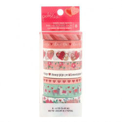 Pebbles embellishment loves me washi tape x8 (Locatie: KB)