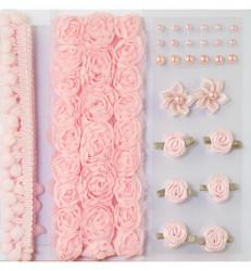 Pom Poms & Flowers Embellishment 12214-1403 (Locatie: k3)