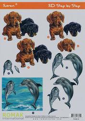 Romak knipvel dolfijnen en honden P0-600-19 (Locatie: 727)
