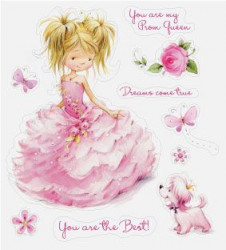 ScrapBerry's Clear stamp Princess SCB071208b (Locatie: NN206)