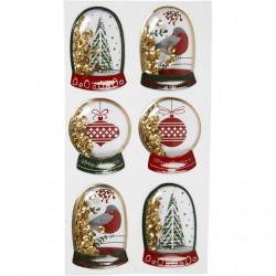 Shacker stickers, kerstmis, 6 stuks, 28489 (Locatie: 4821)