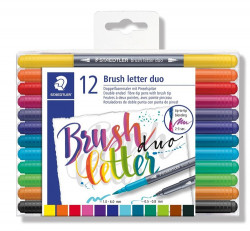 Staedtler Brush lettering duo set - 12 duo pennen (Locatie: KB)