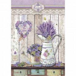 Stamperia Rice Paper lavendel DFSA4365 (Locatie: 1451)