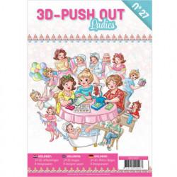 Stansboek Ladies, 24 afbeeldingen en 8 designpapier, 3DPO10027 (Locatie: 0940)