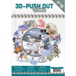 Stansboek Winter, 24 afbeeldingen en 8 designpapier, 3DPO10012 (Locatie: 1753)