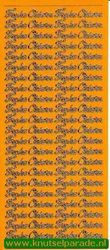 Starform sticker geel frohe ostern 480 (Locatie: L119 )