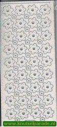 Starform sticker glitter zilver bloemen nr. 7008 (Locatie: G181 )