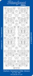 Starform sticker vlinders transparant glitter goud 7001 (Locatie: G059 )