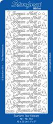 Starform sticker zilver Joyeux Noel 553 (Locatie: F158)
