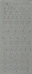 Starform sticker zilver kerst 853 (Locatie: U376 )