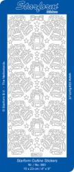 Starform sticker zilver kerst 860 (Locatie: U374)