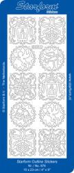 Starform sticker zilver kerst 876 (Locatie: G355)