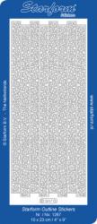 Starform sticker zilver randjes 1267 (Locatie: L201)