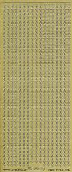 Starform stickervel goud randje ster 972 (Locatie: e133)
