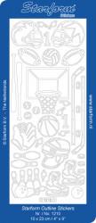 Starform stickervel sport zilver 1210 (Locatie: u208)