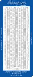 Starform stickervel transparant glitter zilver 7010 (Locatie: t070)