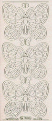 Starform stickervel vlinder transparant glitter goud 7005 (Locatie: u233)