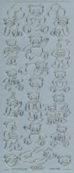 Starform stickervel zilver beertje 805 (Locatie: u081)