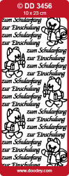 Sticker goud Zum Schulanfang DD3456 (Locatie: NN100)