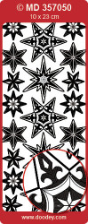 Sticker zilver sterren MD357050 (Locatie: S122 )