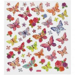 Stickers, vel 15x16,5 cm, vlinders, 27195 (Locatie: 0517)