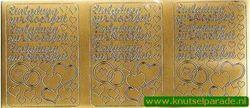 Stickervel Einladung zur Hochzeit goud 9677 (Locatie: U275)