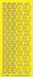 Stickervel geel/goud nr. 3011 (Locatie: K154)