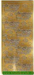 Stickervel menükarte zur hochzeit goud 3650 (Locatie: U265 )