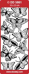 Stickervel vlinders goud DD5861 (Locatie: G120)