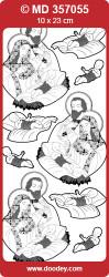 Stickervel zilver geboorte Jezus MD357055 (Locatie: f001)