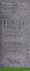 Stickervel zilver Glückliches Neues Jahr 3663 (Locatie: T080 )