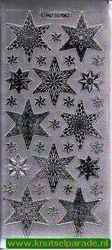 Stickervel zilver kerst MD 35 70 52 (Locatie: ZZ010 )