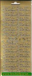 Stickervel Zur Verlobung goud nr. 3631 (Locatie: U136 )