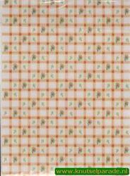 Vellum bloemetjes met ruitje 8912T (Locatie: 1522)