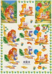 Voorbeeldkaarten knipvel dieren/verjaardag 8674 (Locatie: 4830)