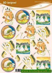 Voorbeeldkaarten knipvel indianen 2239 (Locatie: 6848)