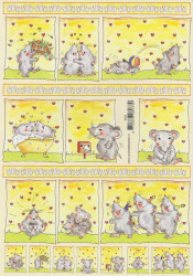 Voorbeeldkaarten knipvel muisjes 8933 (Locatie: 5837)
