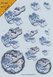 Voorbeeldkaarten stansvel A5 delfts blauw Po-5010 (Locatie: 1254)