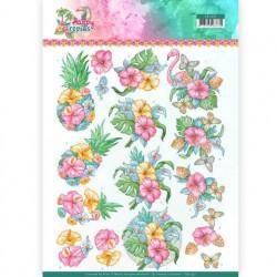 Yvonne Creations knipvel tropical flowers CD11331 (Locatie: 2928)