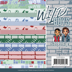 Yvonne Creations, Paperpack, 15.2 x 15.x cm, Wild Boys, YCPP10014