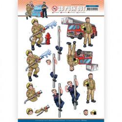 Yvonne Creations stansvel beroepen brandweer SB10553 (Locatie: 0339)