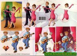 Card Deco knipvel dansen nr. CD 10011 (Locatie: 4406)