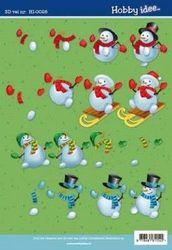Hobby Idee knipvel kerst HI 0028 (Locatie: 932)