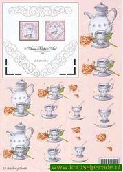 Stitching sheets koffie 3DSS10007 (Locatie: 5637)