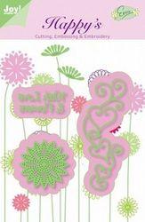 Joy! stencil with love & flowers 6002/1105 (Locatie: C386 )