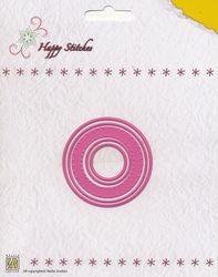Nellie Snellen Happy Stitches snij- en borduurmal Circle HSD005 (Locatie: J561)