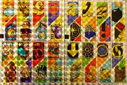 Holografische knipstickers diverse afbeeldingen 5 vel 090 (Locatie: Q008)