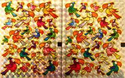 Holografische knipstickers papegaaien 5 vel 084 (Locatie: Q002)
